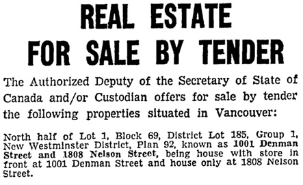 Vancouver Sun, April 3, 1943, page 2, columns 1-2 [edited image].