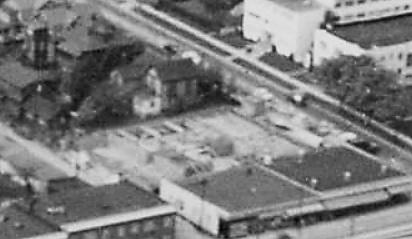 1818 Barclay Street; 1957; detail from Aerial view of the West End showing the increase of apartment buildings west of Cardero Street; Vancouver City Archives, Item : Dist P133; https://searcharchives.vancouver.ca/aerial-view-of-west-end-showing-increase-of-apertment-buildings-west-of-cadero-street.