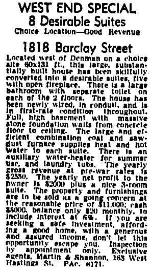 Vancouver Province, February 10, 1944, page 19, column 1.