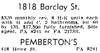 Vancouver Province, August 4, 1951, page 35, column 5.