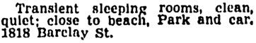 Vancouver Province, June 16, 1945, page 22, column 4.