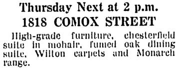 Vancouver Province, June 7, 1925, page 25, column 5.