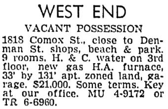 Vancouver Province, April 18, 1959, page 27, column 8.