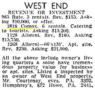 Vancouver Sun, March 20, 1954, page 48, column 8.