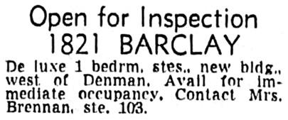 Vancouver Sun, September 27, 1958, page 38, column 2.