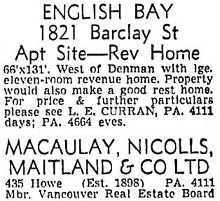 Vancouver Sun, June 5, 1956, page 35, column 8.
