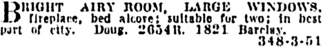 Vancouver Province, May 15, 1926, page 19, column 2.