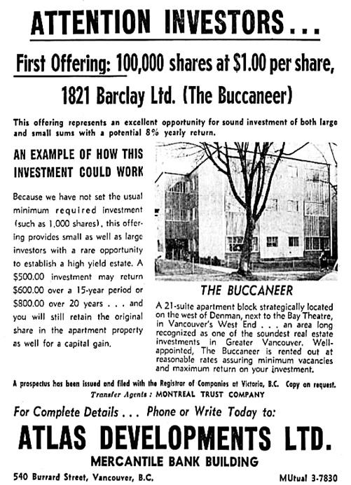 Vancouver Sun, December 8, 1958, page 32, columns 2-5.