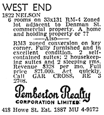 Vancouver Province, September 16, 1965, page 23, column 5.