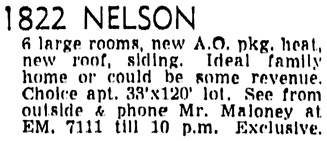 Vancouver Sun, May 8, 1956, page 36, column 5.