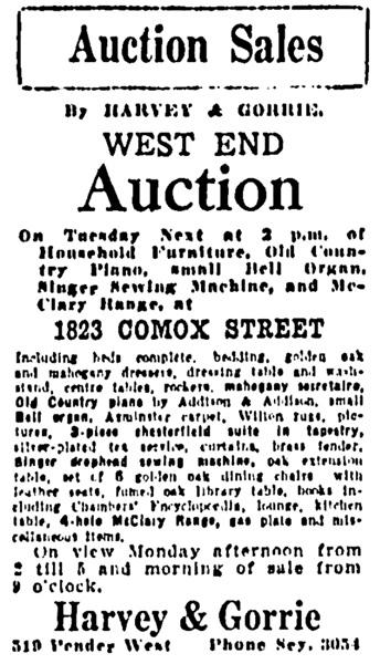 Vancouver Sun, April 4, 1927, page 12, column 4.