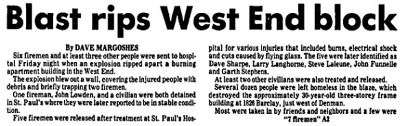 Vancouver Sun, April 6, 1985, page 1, columns 1-2 [first portion of article].