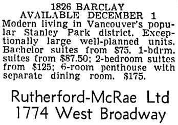 Vancouver Sun, October 27, 1956, page 40, column 3.