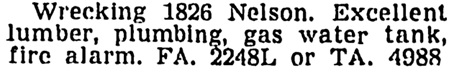 Vancouver Sun, February 20, 1953, page 36, column 3.