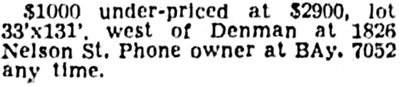 Vancouver Province, May 18, 1946, page 28, column 8.