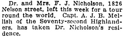 Vancouver Province, August 26, 1911, page 5, column 4.