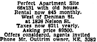 Vancouver Province, October 10, 1945, page 23, column 1.