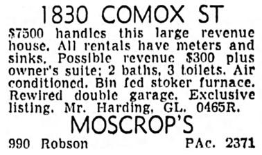 Vancouver Sun, August 5, 1953, page 37, column 8.