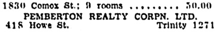 Vancouver Province, April 17, 1932, page 19, column 6 [edited image].