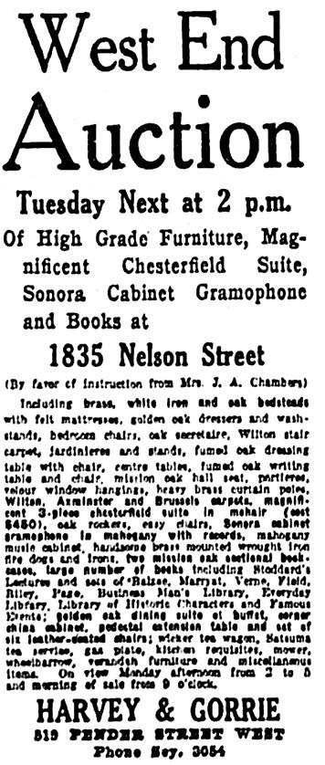 Vancouver Province, July 21, 1924, page 20, column 5.