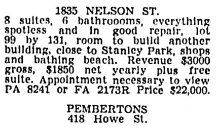 Vancouver Province, March 8, 1947, page 36, column 7.