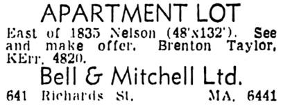 Vancouver Sun, June 16, 1949, page 35, column 8.