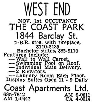 Vancouver Sun, September 23, 1963, page 38, column 2 [edited image].