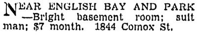 Vancouver Sun, June 2, 1942, page 16, column 4.