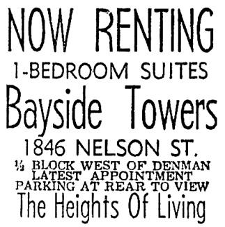 Vancouver Sun, June 20, 1964, page 39, column 8.