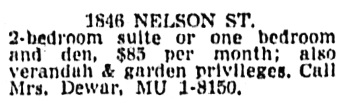 Vancouver Sun, April 13, 1962, page 46, column 2.