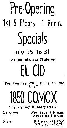Vancouver Sun, July 16, 1966, page 40, column 1.