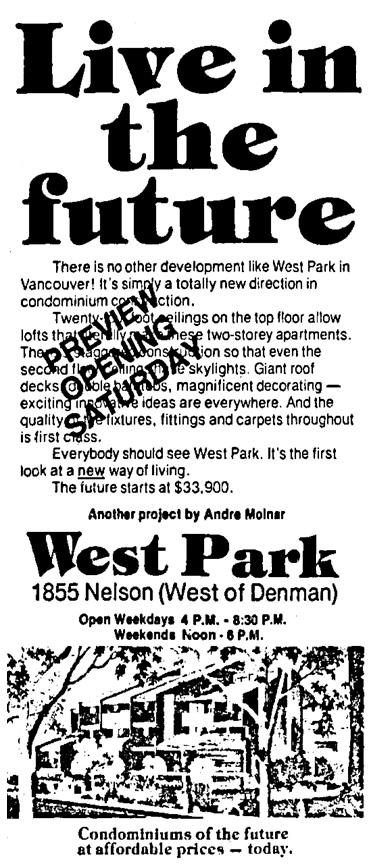 Vancouver Sun, January 28, 1977, page 51, columns 6-7.