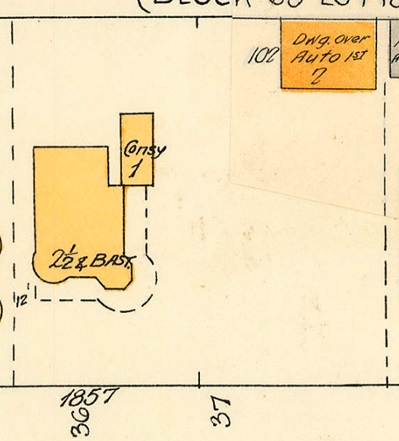 1857 Nelson Street; 1913, detail from Denman Street to Haro Street to Chilco Street to Comox Street; 1972-582.29 – Plate 54; Reference code: AM1594-MAP 383-: 1972-582.29; https://searcharchives.vancouver.ca/plate-54-denman-street-to-haro-street-to-chilco-street-to-comox-street.