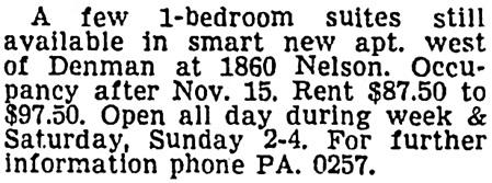 Vancouver Sun, November 1, 1956, page 35, column 6.