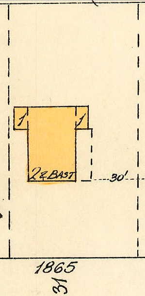 1865 Barclay Street; 1913, detail from Denman Street to Haro Street to Chilco Street to Comox Street; 1972-582.29 – Plate 54; Reference code: AM1594-MAP 383-: 1972-582.29; https://searcharchives.vancouver.ca/plate-54-denman-street-to-haro-street-to-chilco-street-to-comox-street.