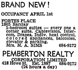 Vancouver Sun, March 8, 1968, page 44, column 7.