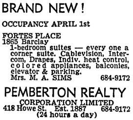 Vancouver Sun, March 8, 1968, page 44, column 7.