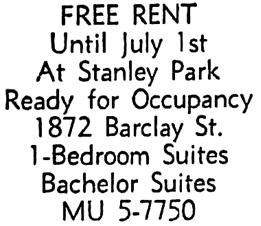 Vancouver Sun, June 25, 1959, page 35, column 1.
