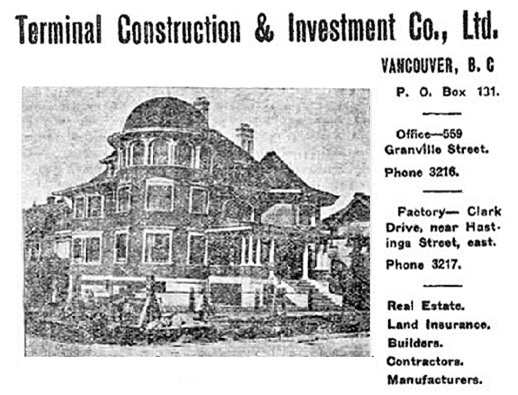 1873 Nelson Street, Vancouver Province, September 21, 1907, Land of Opportunity Number, page 73.