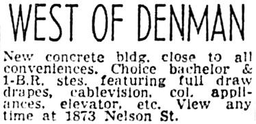 Vancouver Sun, November 23, 1962, page 40, column 5.