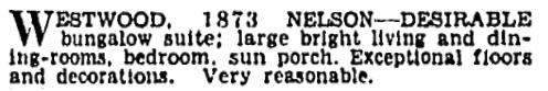 Vancouver Province, November 26, 1930, page 23, column 2.