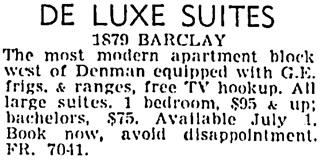Vancouver Sun, June 14, 1955, page 33, column 5.
