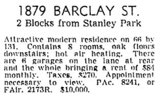 Vancouver Sun, June 16, 1945, page 21, column 3.