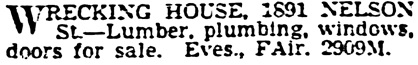 Vancouver Province, February 14, 1940, page 19, column 1.