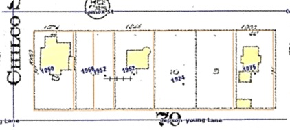 1900 Block Comox Street (south side), Vanmapp, City of Vancouver; http://vanmapp.vancouver.ca/pubvanmap_net/default.aspx. [Includes 1912 Goad's map of Vancouver and property addresses in 2019.]