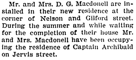 Vancouver Province, November 25, 1905, page 13, column 4.