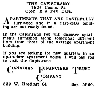 Vancouver Province, August 30, 1929, page 23, column 3.