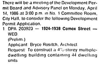 Vancouver Sun, April 12, 1986, page D16, column 1.