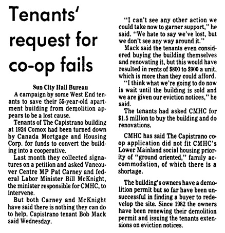 Vancouver Sun, April 18, 1985, page B3, column 6.