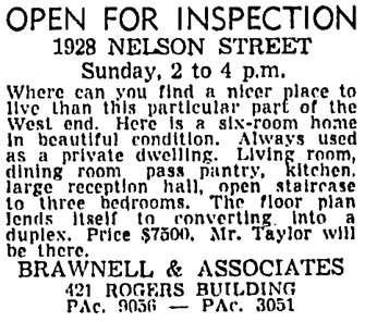 Vancouver Sun, May 18, 1946, page 23, column 6.